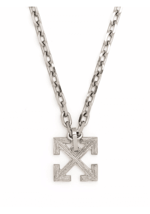 Off-White Industrial Arrow pendant necklace - Silver