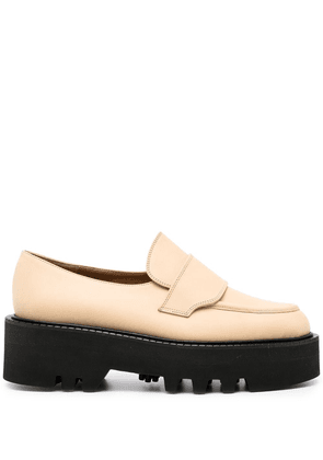 ATP Atelier chunky sole loafers - Brown
