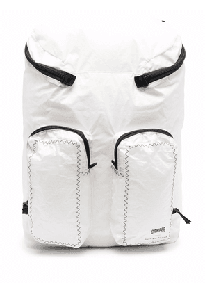 Camper topstitched shell backpack - White