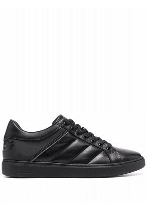 Baldinini low-top panelled leather sneakers - Black