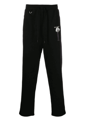 Doublet embroidered lounge track trousers - Black