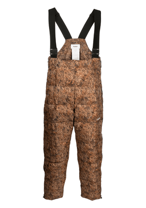 Doublet Doublet padded graphic print trousers - Brown