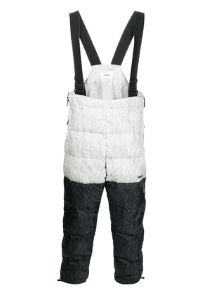 Doublet Doublet padded colour-block trousers - White