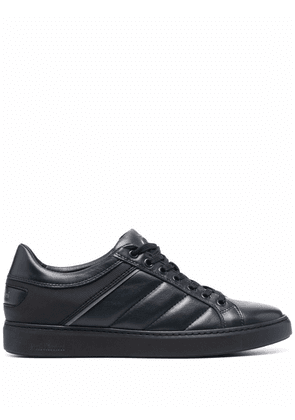 Baldinini low-top panelled leather sneakers - Blue