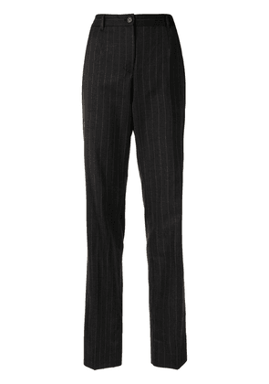 Dolce & Gabbana pinstripe tailored-fit trousers - Black