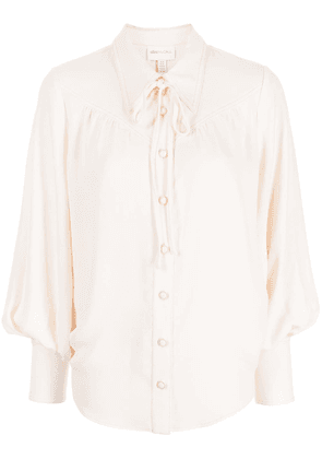 Alice McCall collared long-sleeved blouse - White