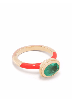 Alice Cicolini 14kt yellow gold Candy Lacquer Water emerald ring