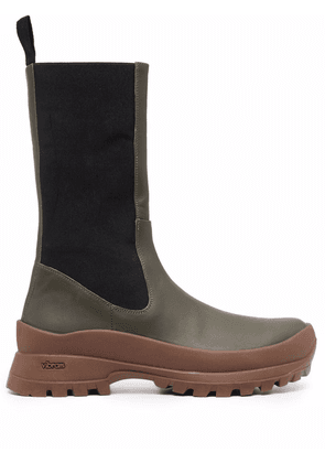 ATP Atelier knee-length leather boots - Green