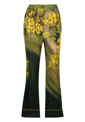 F.R.S For Restless Sleepers floral-print high-waist trousers - Multicolour