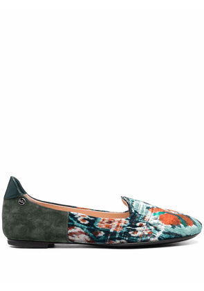 AGL Soren abstract-print loafers - Green