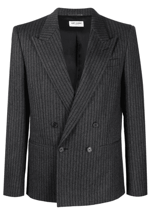 Saint Laurent striped double-breasted blazer - Grey