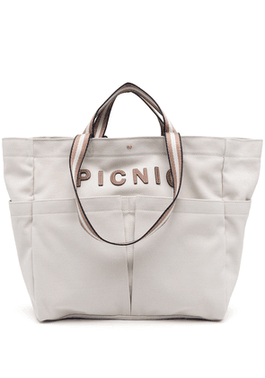 Anya Hindmarch patch lettering tote bag - Neutrals