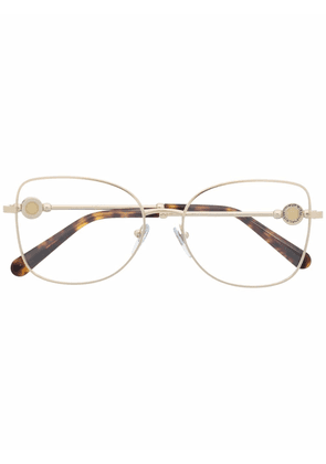 Bvlgari butterfly-frame glasses - Brown