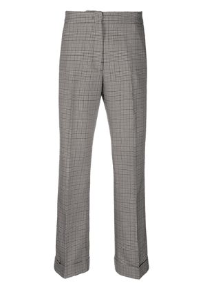 Essentiel Antwerp abuela cropped checked trousers - Grey
