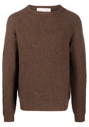 A Kind of Guise rib-knit crew neck jumper - Brown