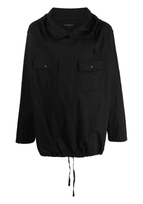 Engineered Garments pullover hooded cotton cagoule - Black