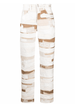 Givenchy patchwork straight-leg jeans - White