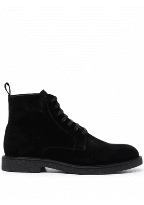 Boss Hugo Boss lace-up suede ankle boots - Black