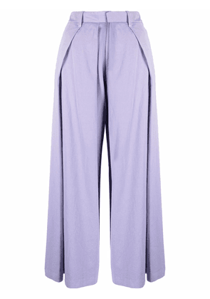 Charles Jeffrey Loverboy pleated cropped trousers - Purple