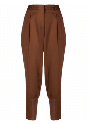 Fabiana Filippi high-waisted panelled trousers - Brown