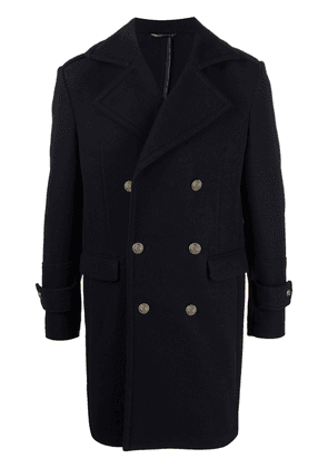 Daniele Alessandrini double-breasted embossed-button coat - Blue