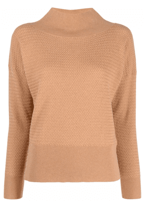 Fabiana Filippi high neck knitted top - Brown