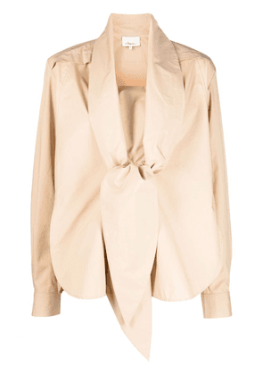 3.1 Phillip Lim pussy-bow tailored shirt - Neutrals