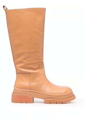 ASH Supremium leather boots - Brown