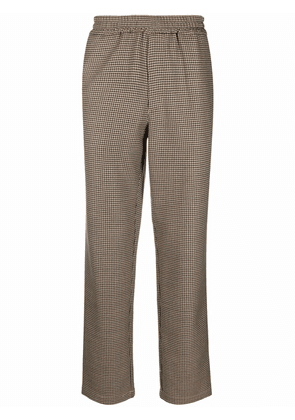 Barena houndstooth pattern trousers - Neutrals