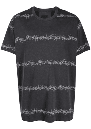 Givenchy Barbed Wire vintage-effect T-shirt - Black