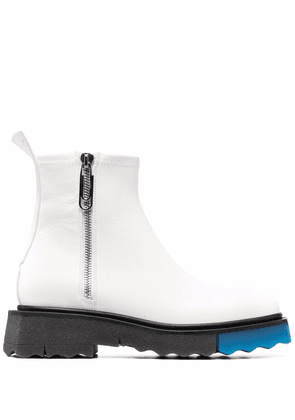 Off-White contrast panel ankle boots