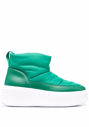 ASH maxi padded ankle boots - Green