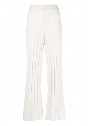 By Malene Birger ribbed-knit trousers - White