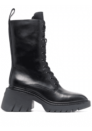 ASH Odessa leather boots - Black
