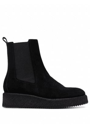 Del Carlo slip-on ankle suede boots - Black