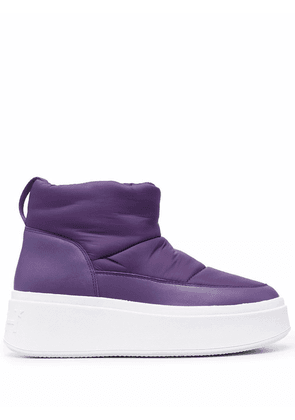 ASH maxi padded ankle boots - Purple
