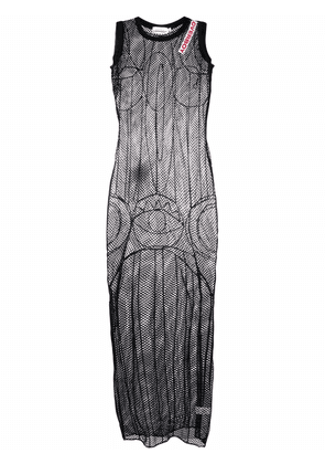 Charles Jeffrey Loverboy embroidered open-knit maxi dress - Black