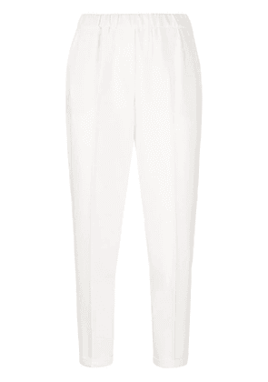 Antonelli slim-fit cropped trousers - Neutrals