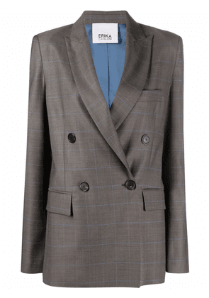 Erika Cavallini fitted double-breasted blazer - Grey