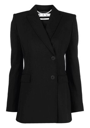 Off-White Hands Off single-breasted blazer - Black