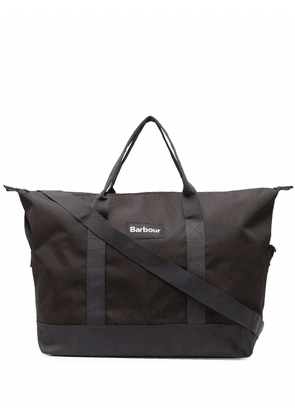 Barbour logo-patch tote bag - Green
