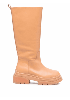 ASH Mustang leather boots - Neutrals