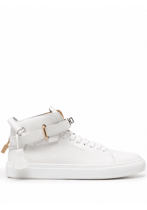 Buscemi 100mm high-top leather sneakers - White