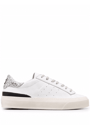 D.A.T.E. sequin embellished low-top trainers - White