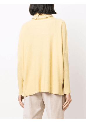 Antonelli roll neck knitted jumper - Yellow