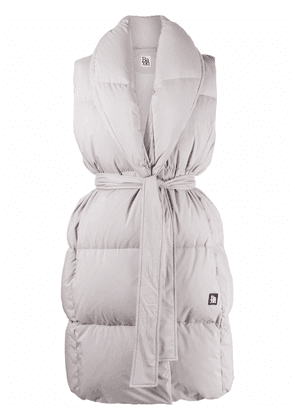 Bacon tied-waist feather-down padded gilet - Grey