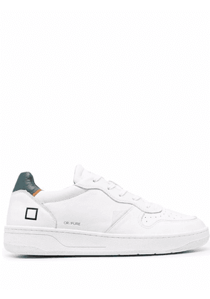 D.A.T.E. leather low-top trainers - White