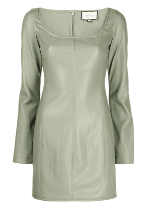 Alexis long-sleeved faux-leather dress - Green