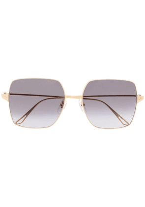 Cartier Eyewear square-frame tinted sunglasses - Gold