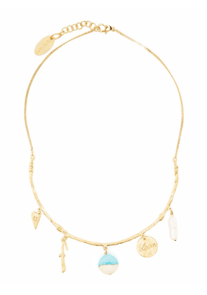 Forte Forte multi-charm necklace - Gold